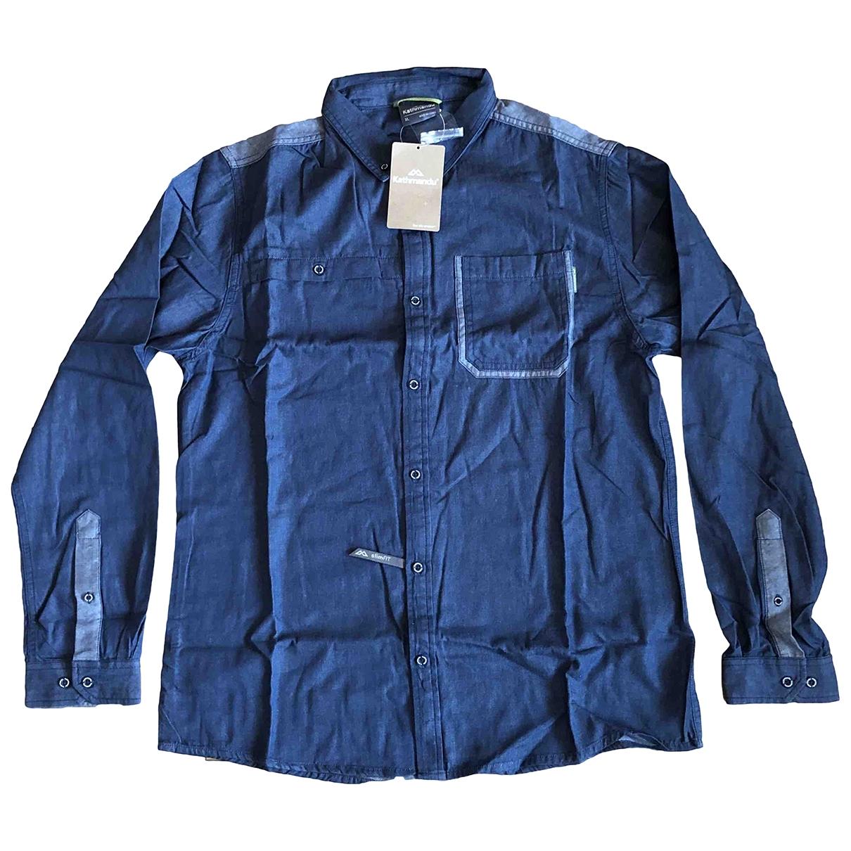 Non Signé / Unsigned \N Blue Cotton Shirts for Men XL International