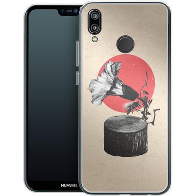 Huawei P20 Lite Silikon Handyhuelle - Gramophone von Ali Gulec