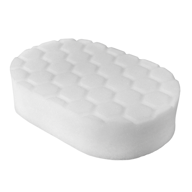 Hex Logic White Car Polishing Hand Pad, 3 x 6 x 1 Inch - Chemical Guys
