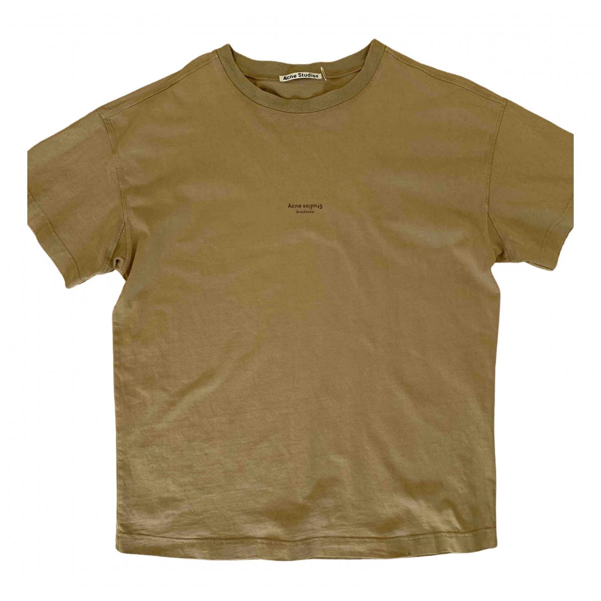 Acne Studios \N Beige Cotton T-shirts for Men L International