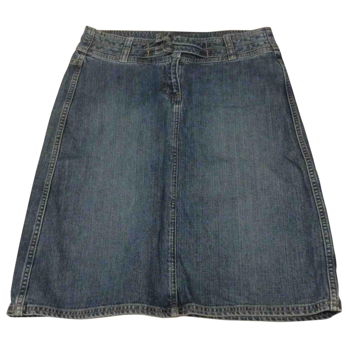 Calvin Klein - Jupe   pour femme en coton - bleu
