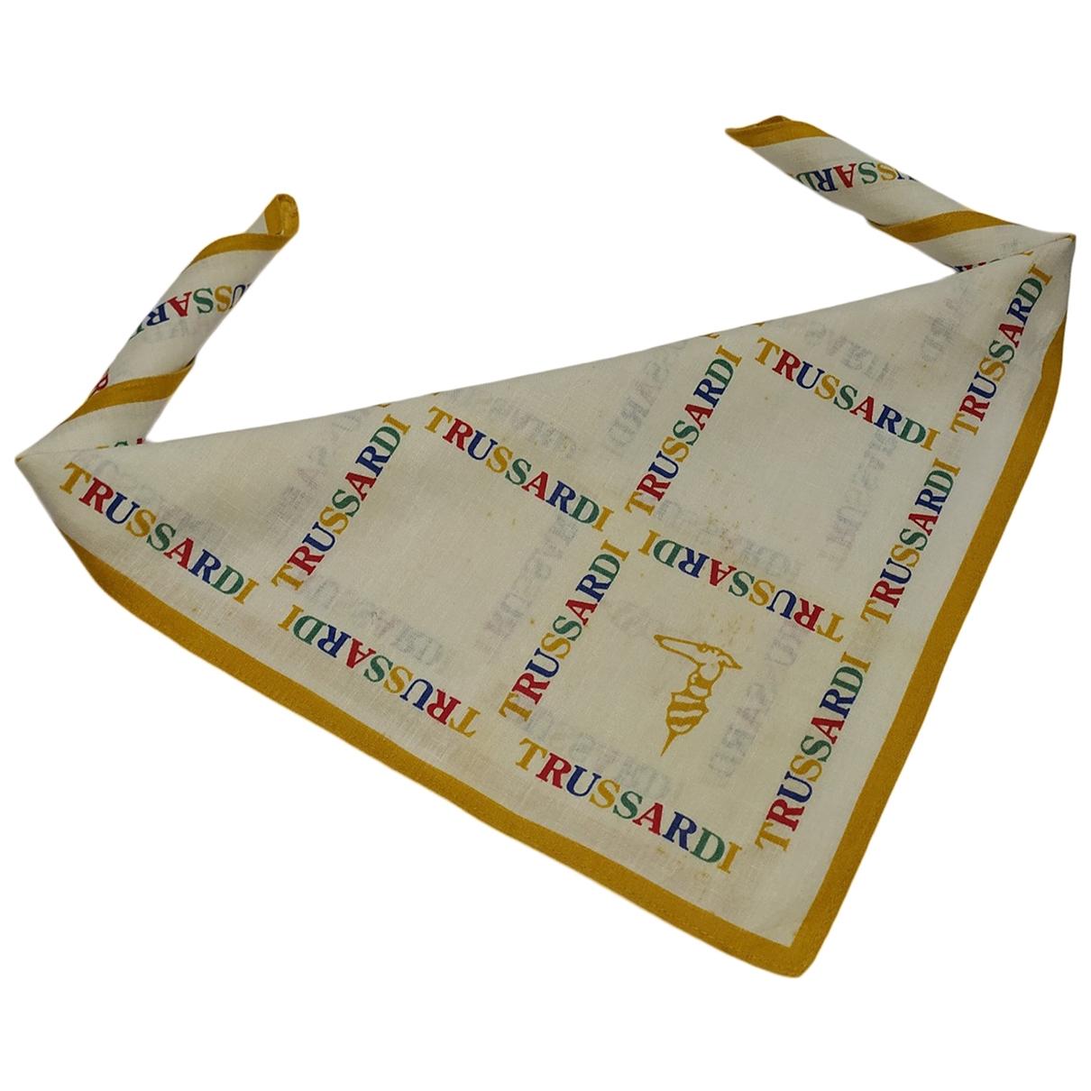 Trussardi - Carre   pour femme en coton - multicolore