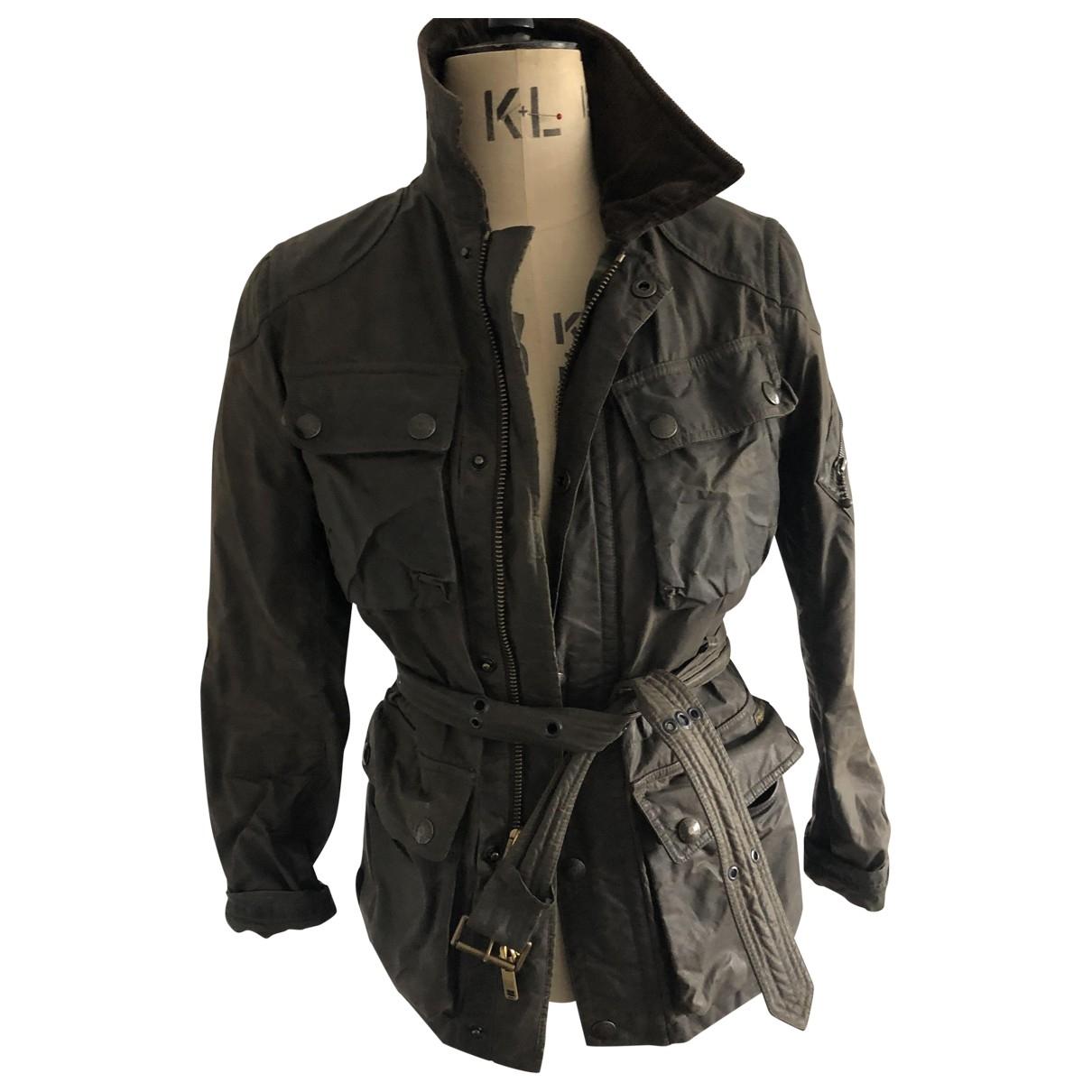Polo Ralph Lauren - Veste   pour femme en cuir - kaki