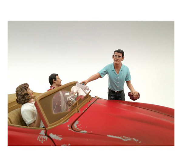 Gas Station Attendant Tom Figurine for 1/18 Scale Models by American Diorama