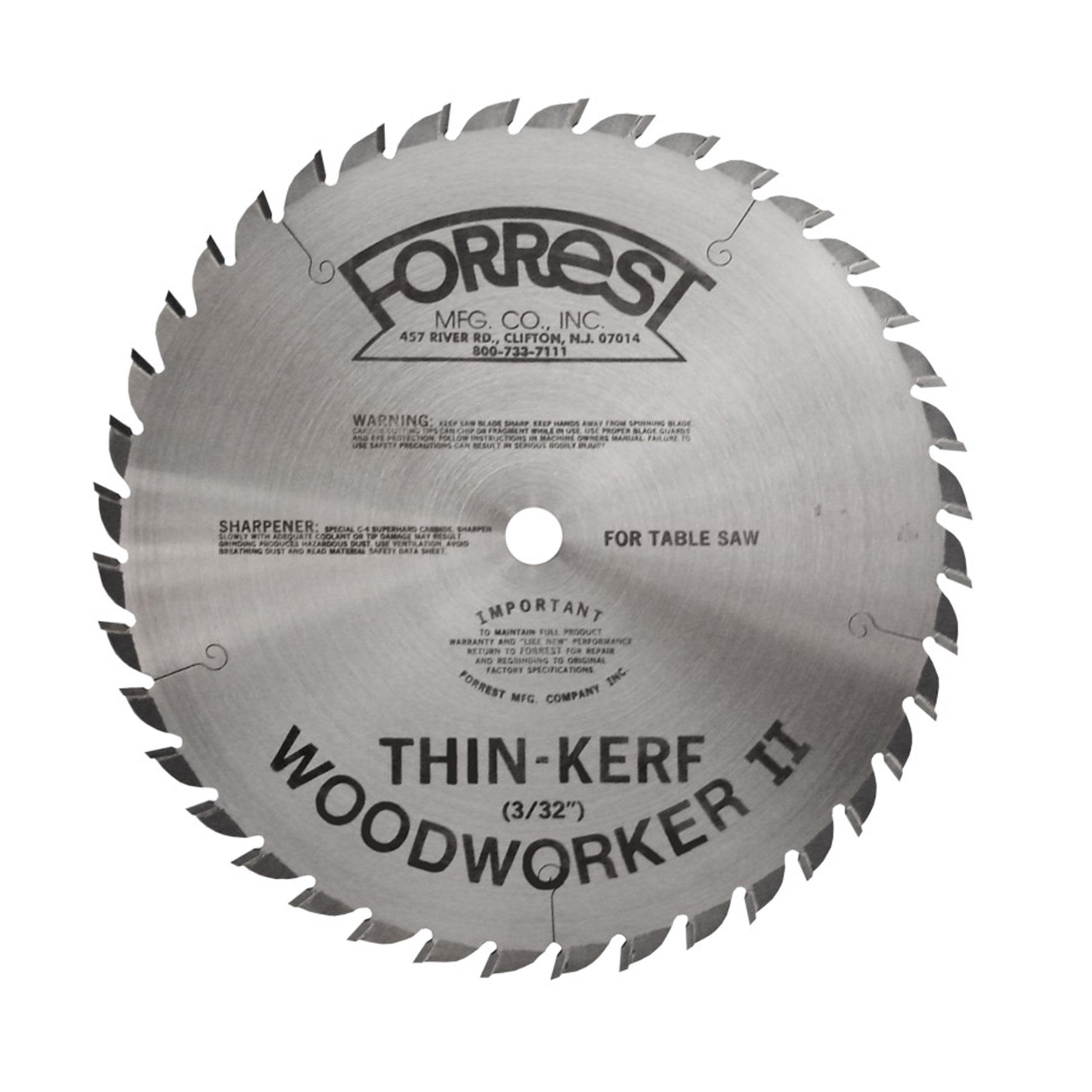 WW09407100 Woodworker II Saw Blade,  9 x 40T, .100 Kerf x 5/8 Bore, ATB
