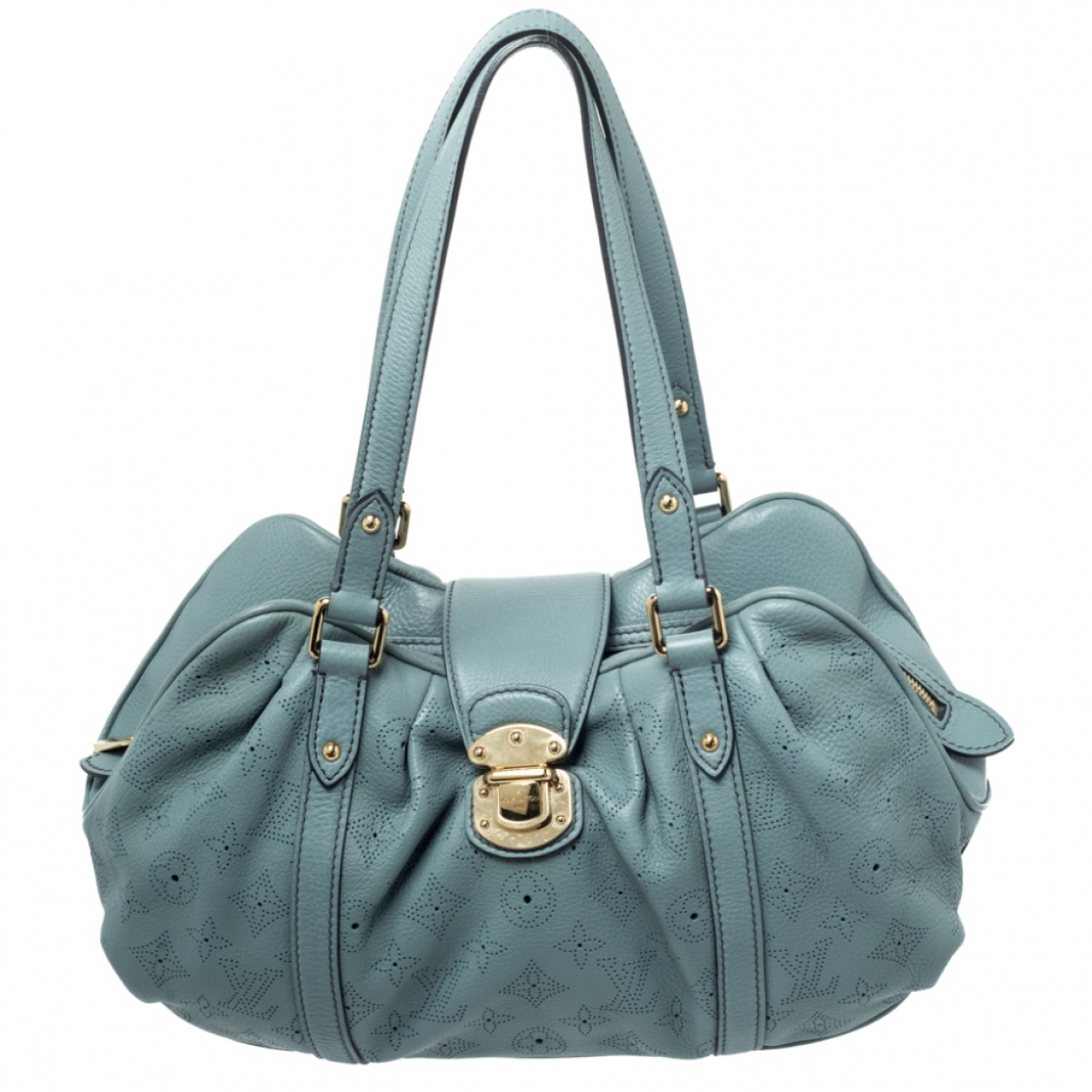 Louis Vuitton Mahina Handtasche in  Blau Leder