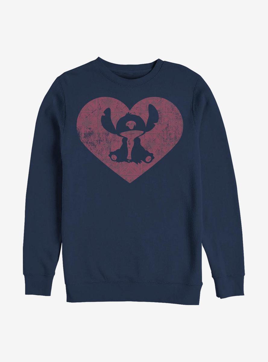 Disney Lilo And Stitch Heart Sweatshirt