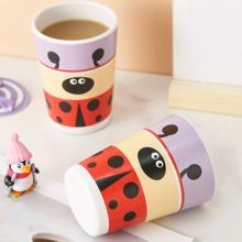 1pc Ladybug Print Cup