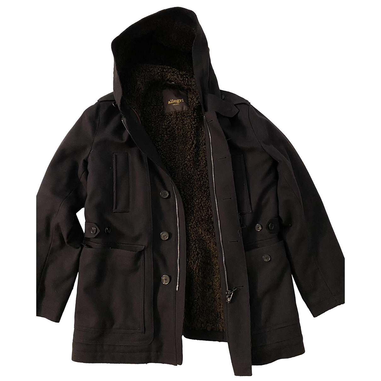 Allegri \N Blue Wool jacket  for Men 48 IT
