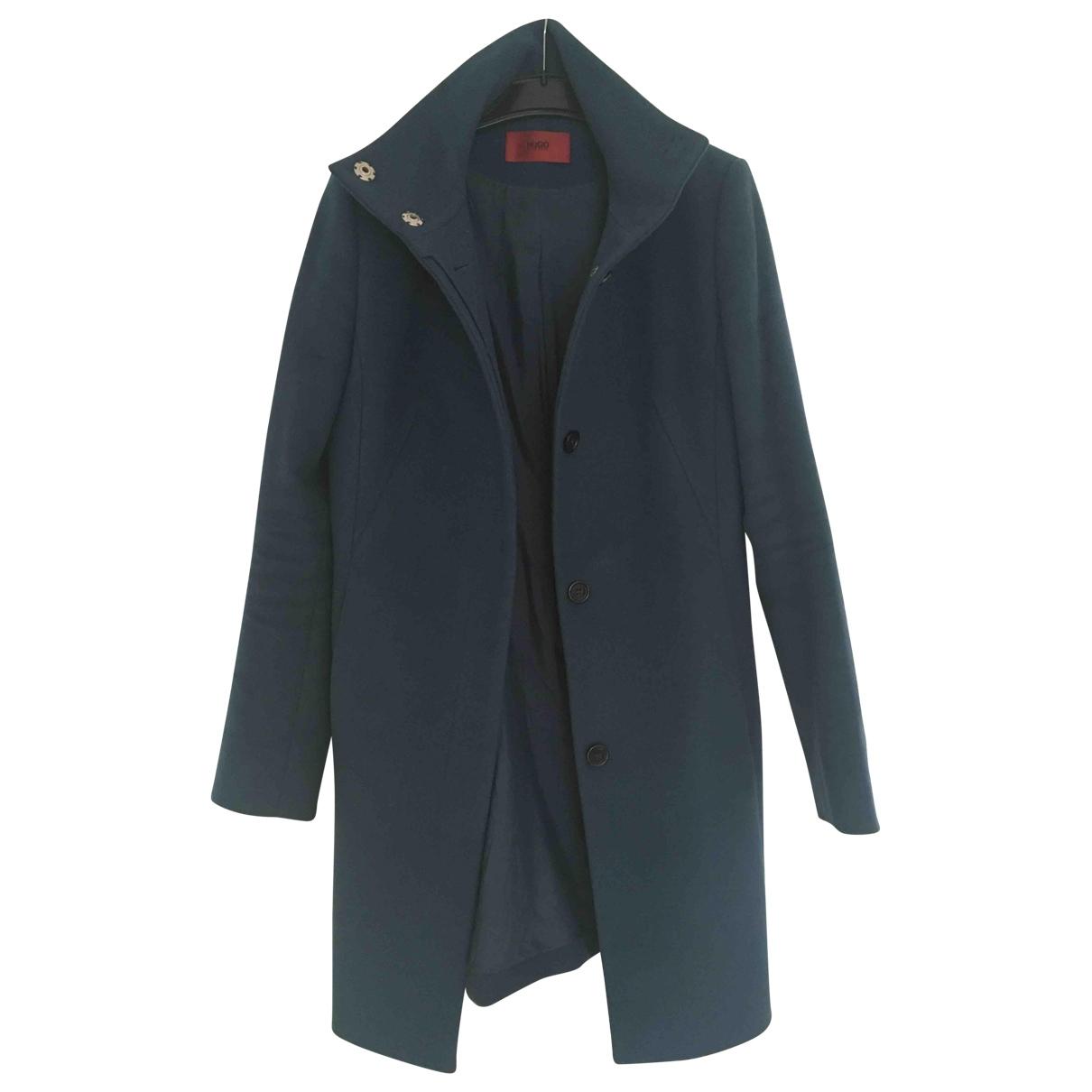 Hugo Boss - Manteau   pour femme en laine - bleu