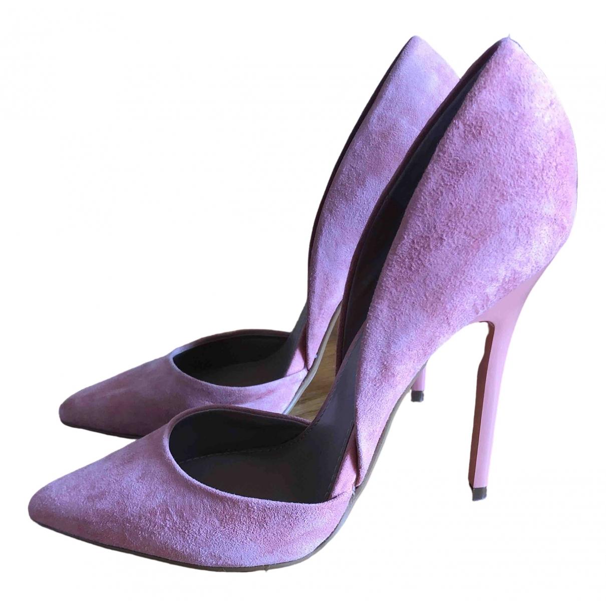 Steve Madden - Escarpins   pour femme en cuir - rose