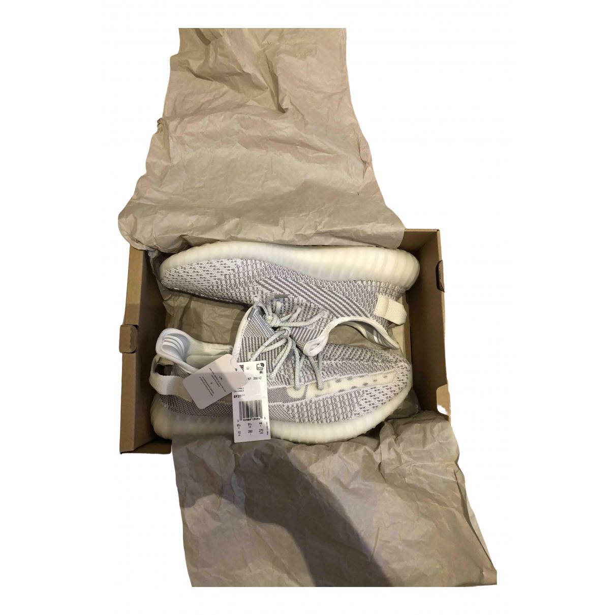 Yeezy X Adidas - Baskets Boost 350 V2 pour homme en toile - argente
