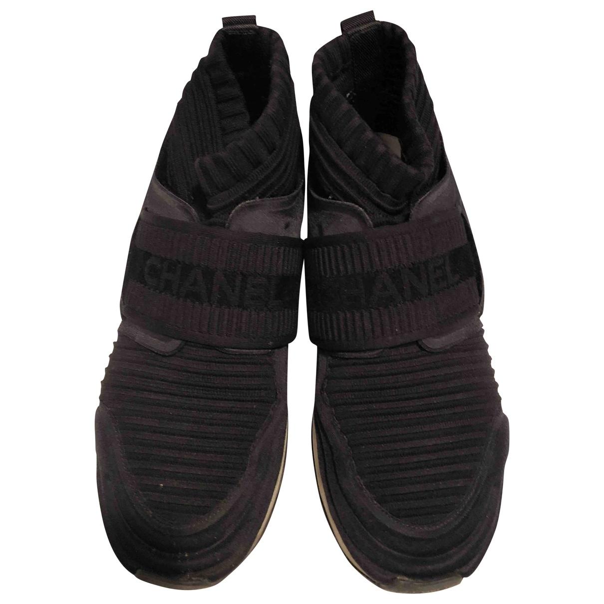 Chanel - Baskets   pour femme en toile - noir