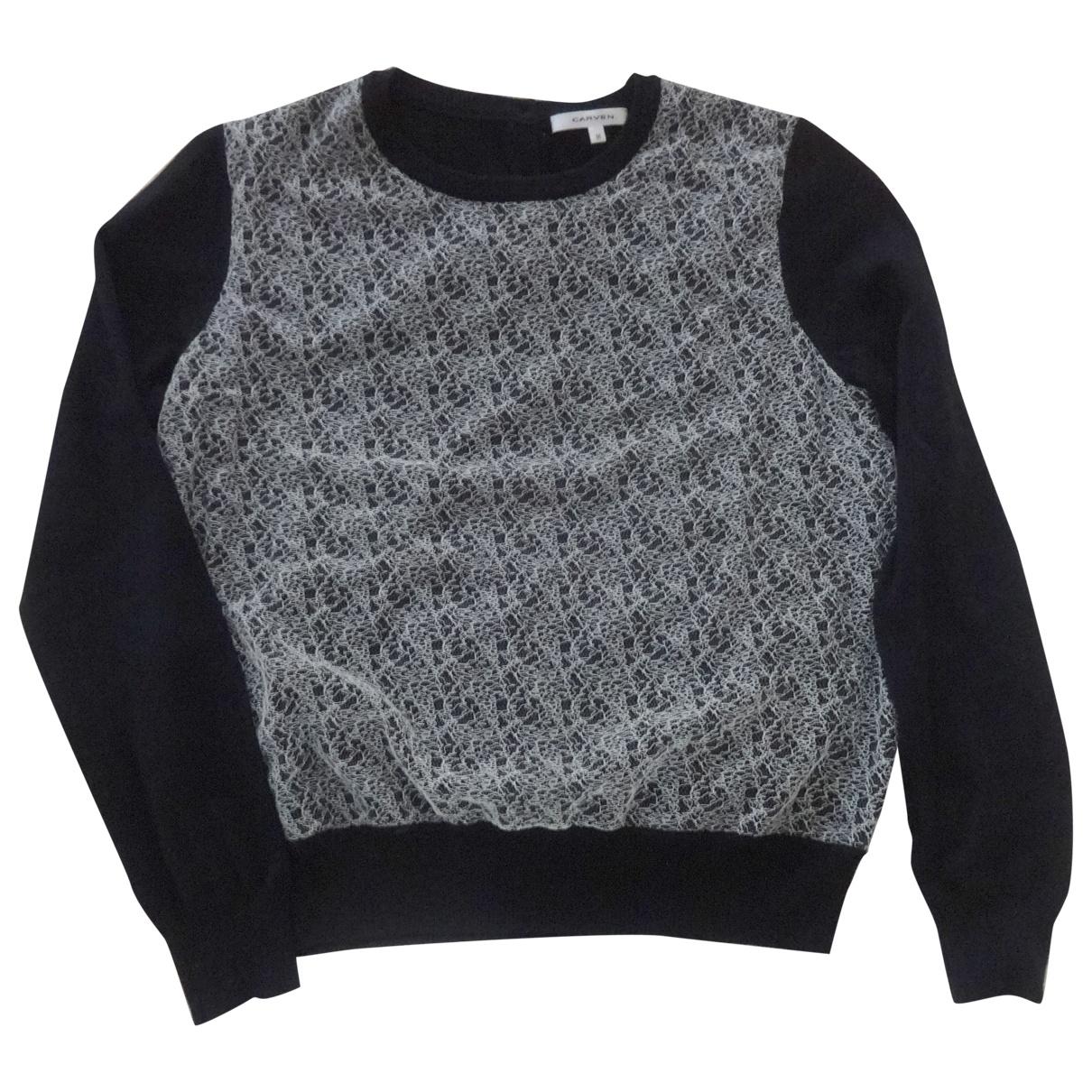 Carven \N Pullover in  Schwarz Wolle