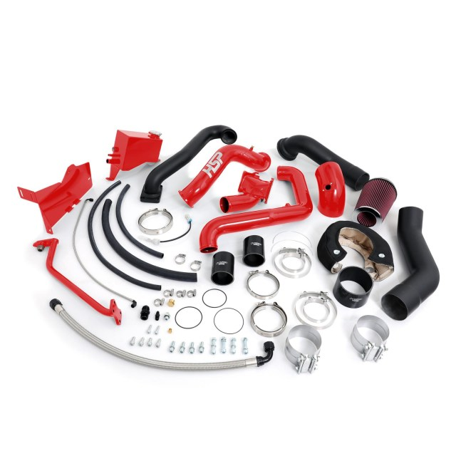 2004.5-2005 Chevrolet / GMC Over Stock Twin Kit No Turbo Factory Battery Location Blood Red HSP Diesel 213-HSP-BR