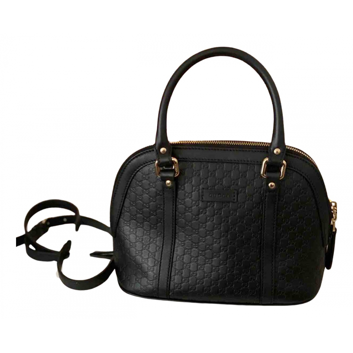 Gucci N Black Leather handbag for Women N