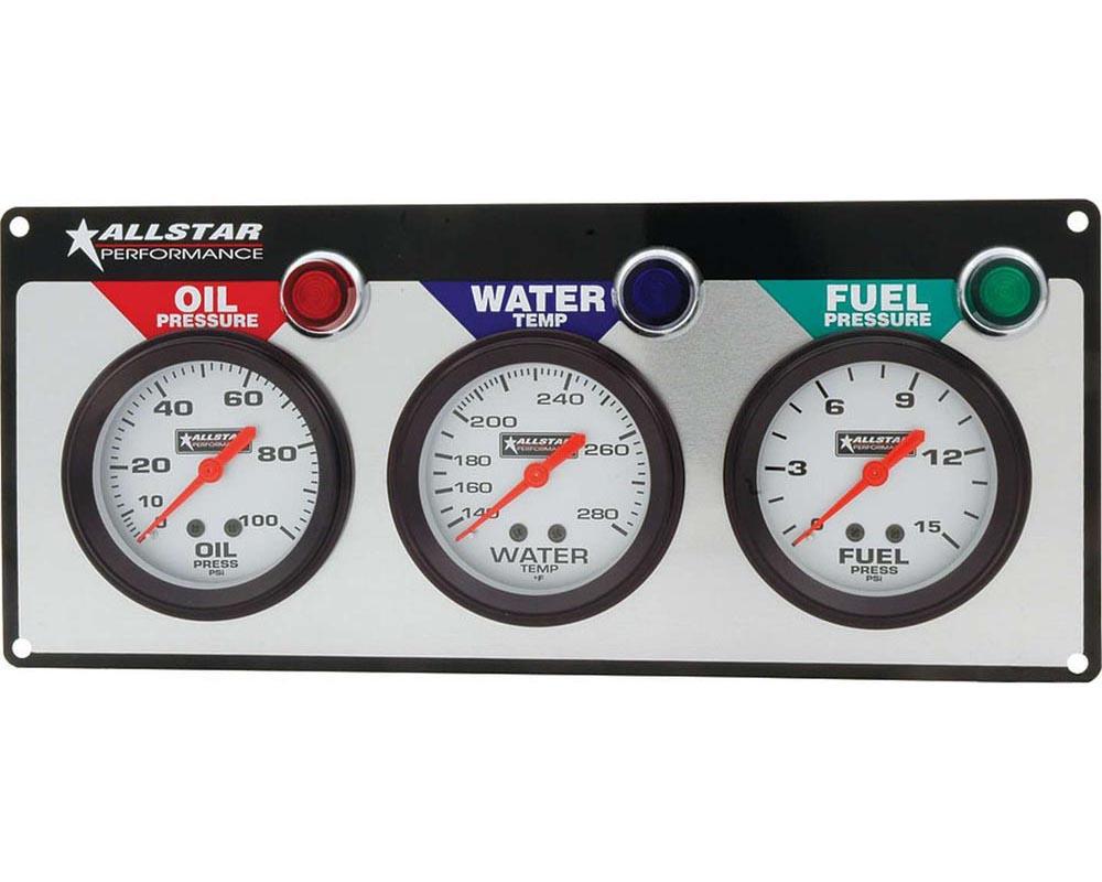 Allstar Performance ALL80092 3 Gauge Panel ALL OP/WT/FP ALL80092
