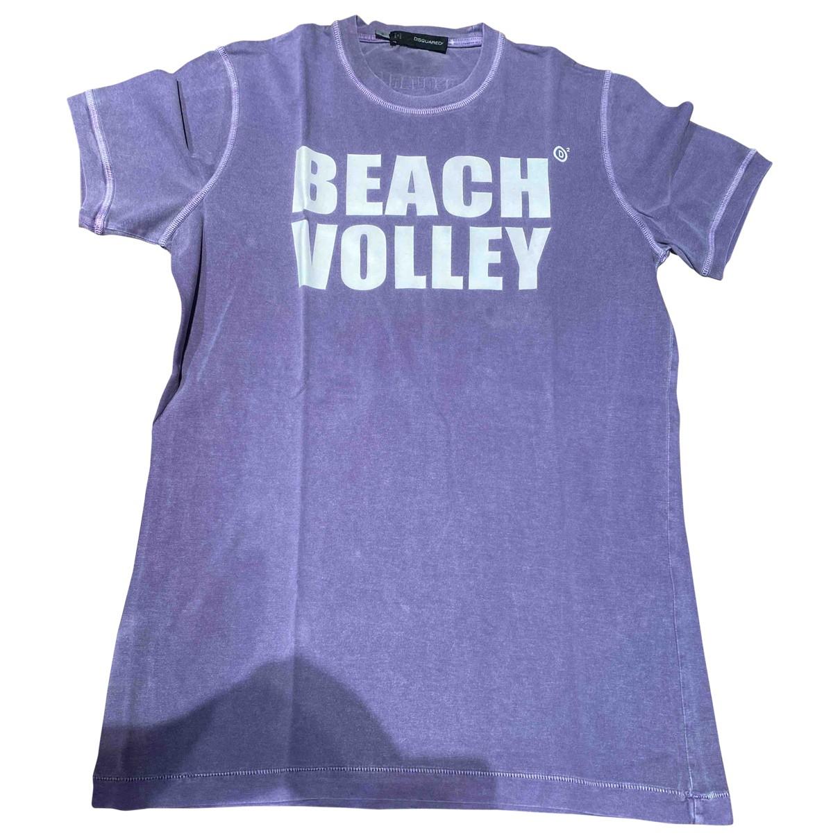Dsquared2 N Purple Cotton T-shirts for Men S International