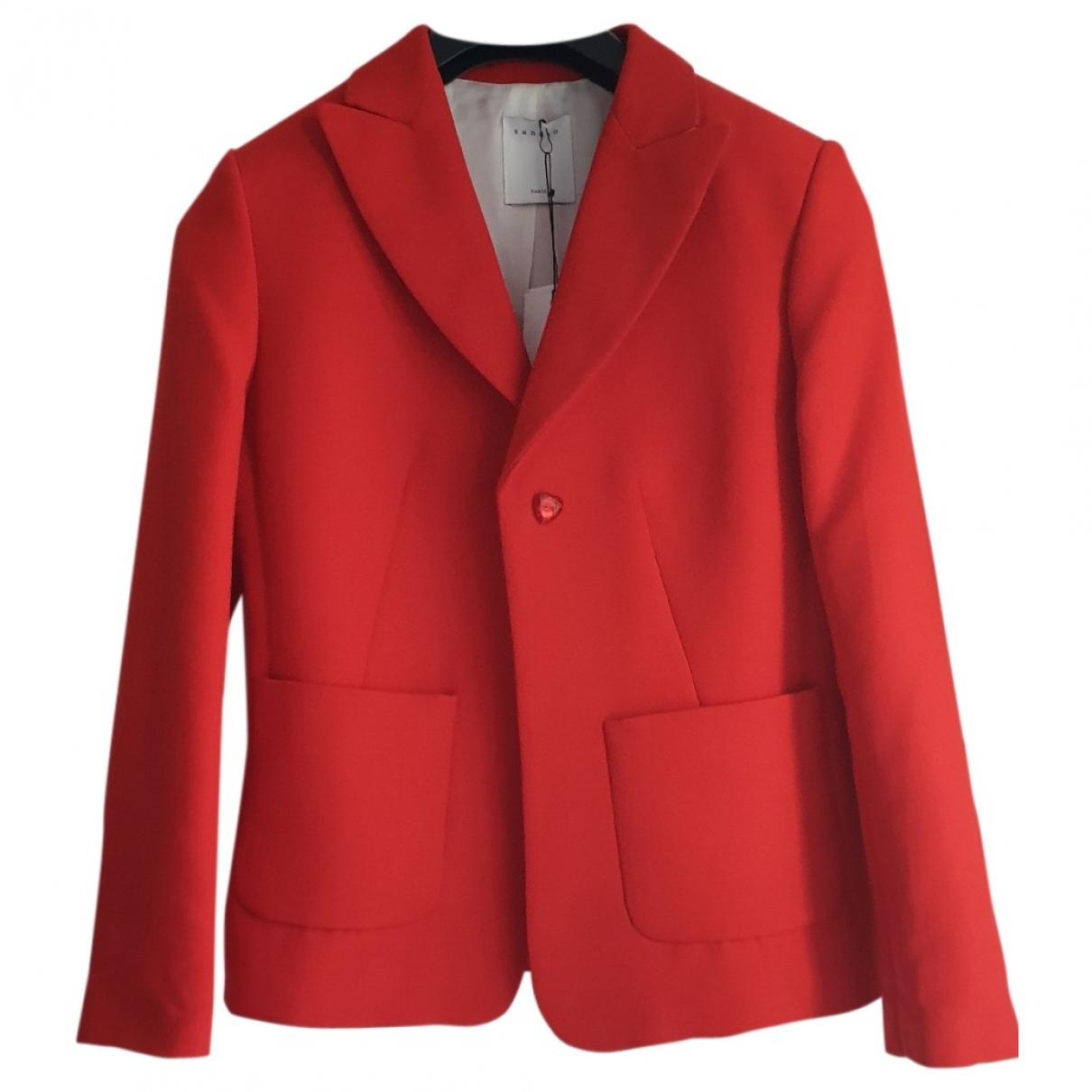Sandro - Veste   pour femme en coton - rouge