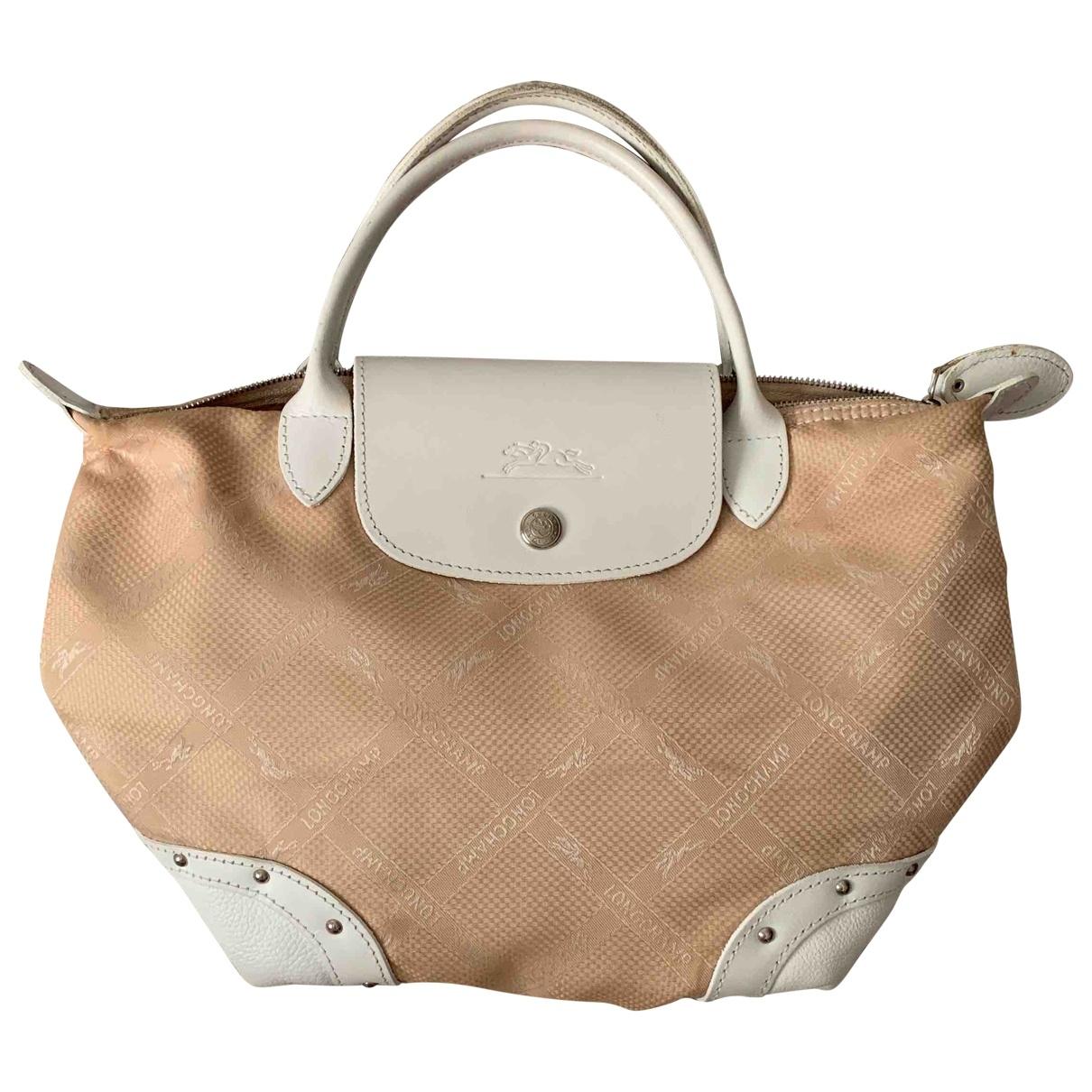 Longchamp - Sac a main Pliage  pour femme en toile - ecru