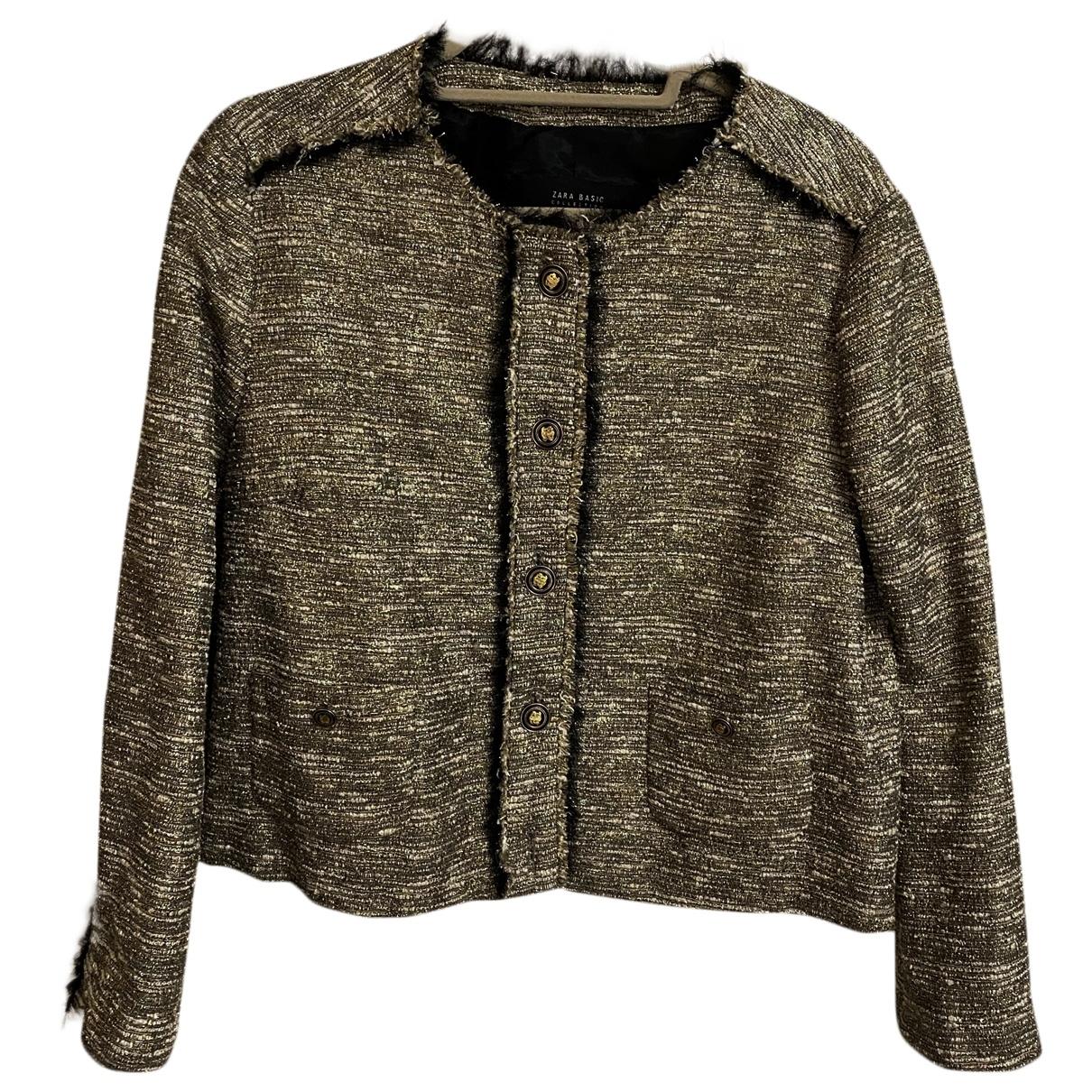 Zara \N Gold Tweed jacket for Women XL International