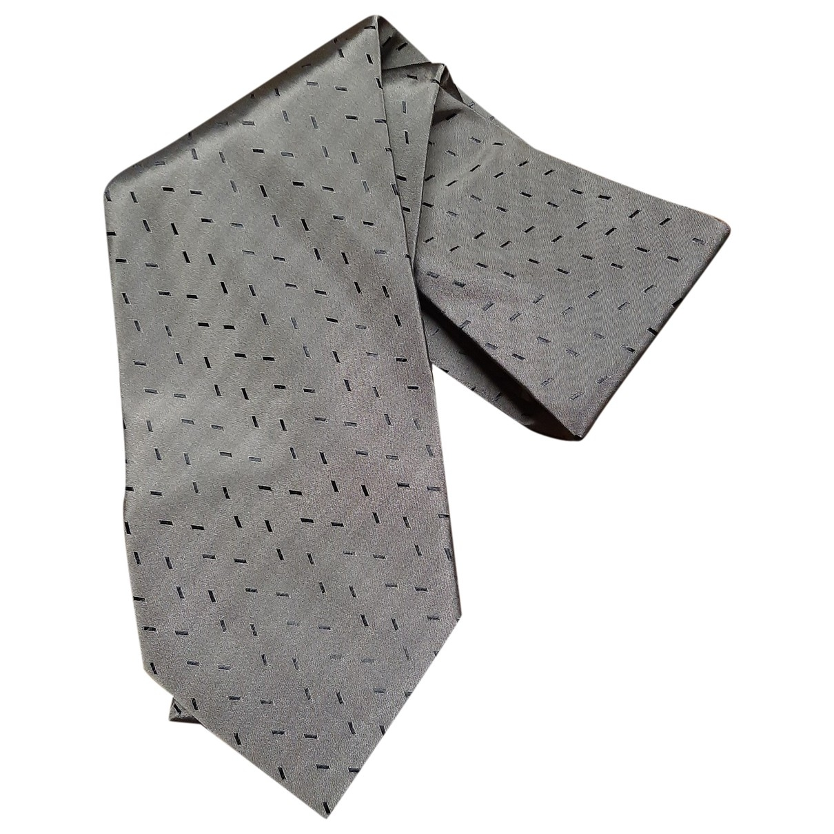 Claude Montana \N Grey Silk Ties for Men \N