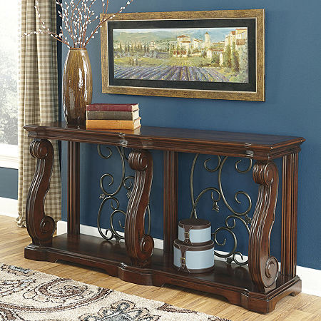 Signature Design by Ashley Alymere Console Table, One Size , Brown