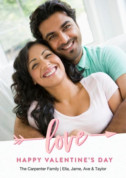 Valentine's Cards 5x7 Cards, Standard Cardstock 85lb, Card & Stationery -Valentine Love Arrow