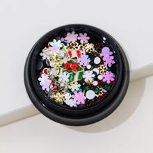 1 caja decoracion de arte de uña de navidad