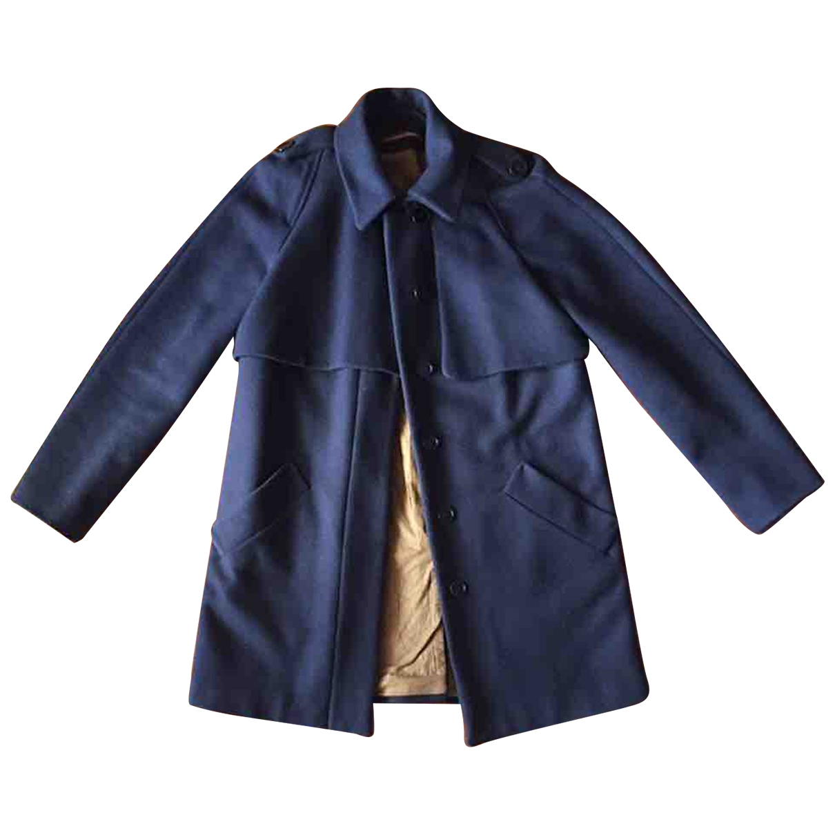 Comptoir Des Cotonniers \N Blue Wool coat for Women 36 FR
