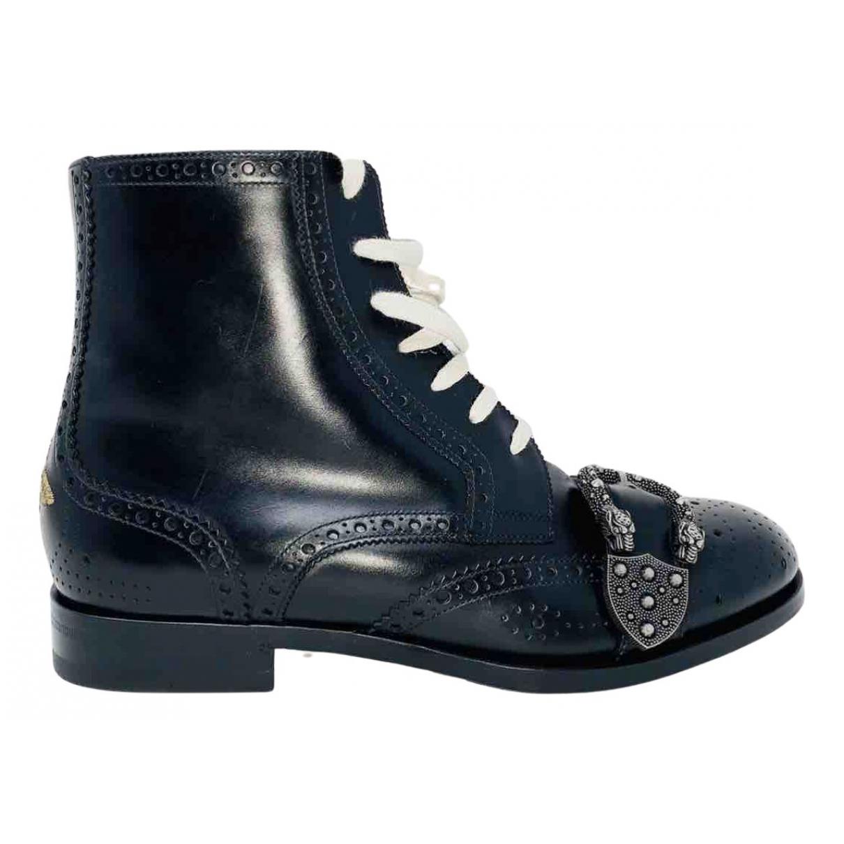 Gucci Queercore Stiefel in  Schwarz Leder