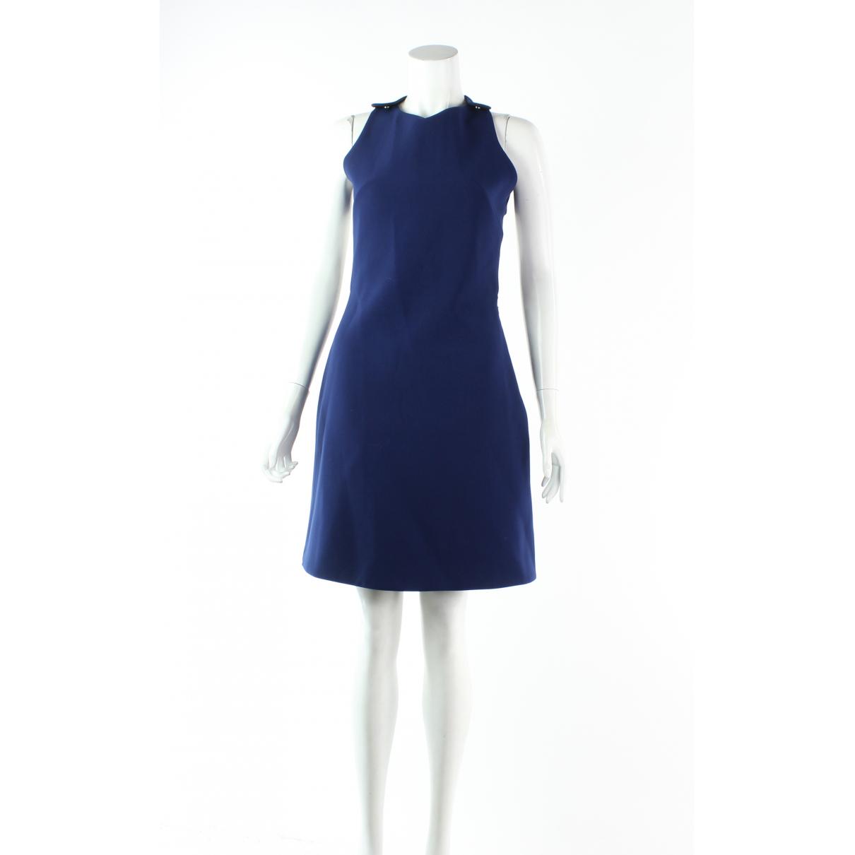 Carven \N Kleid in  Marine Polyester