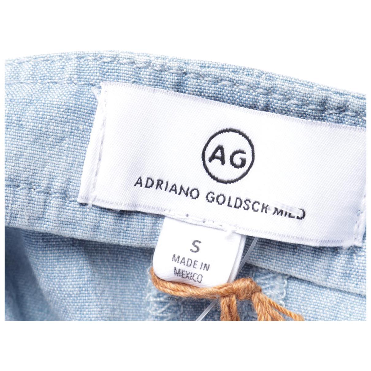 Ag Jeans \N Kleid in  Blau Baumwolle