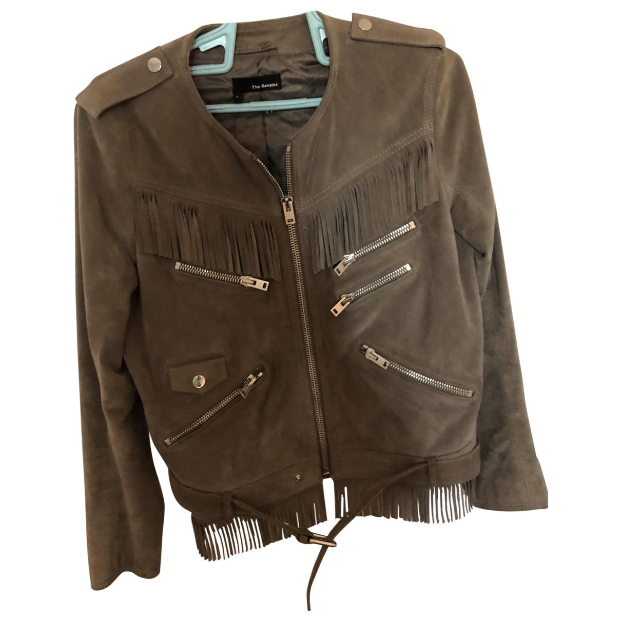 The Kooples \N Grey Suede jacket for Women L International