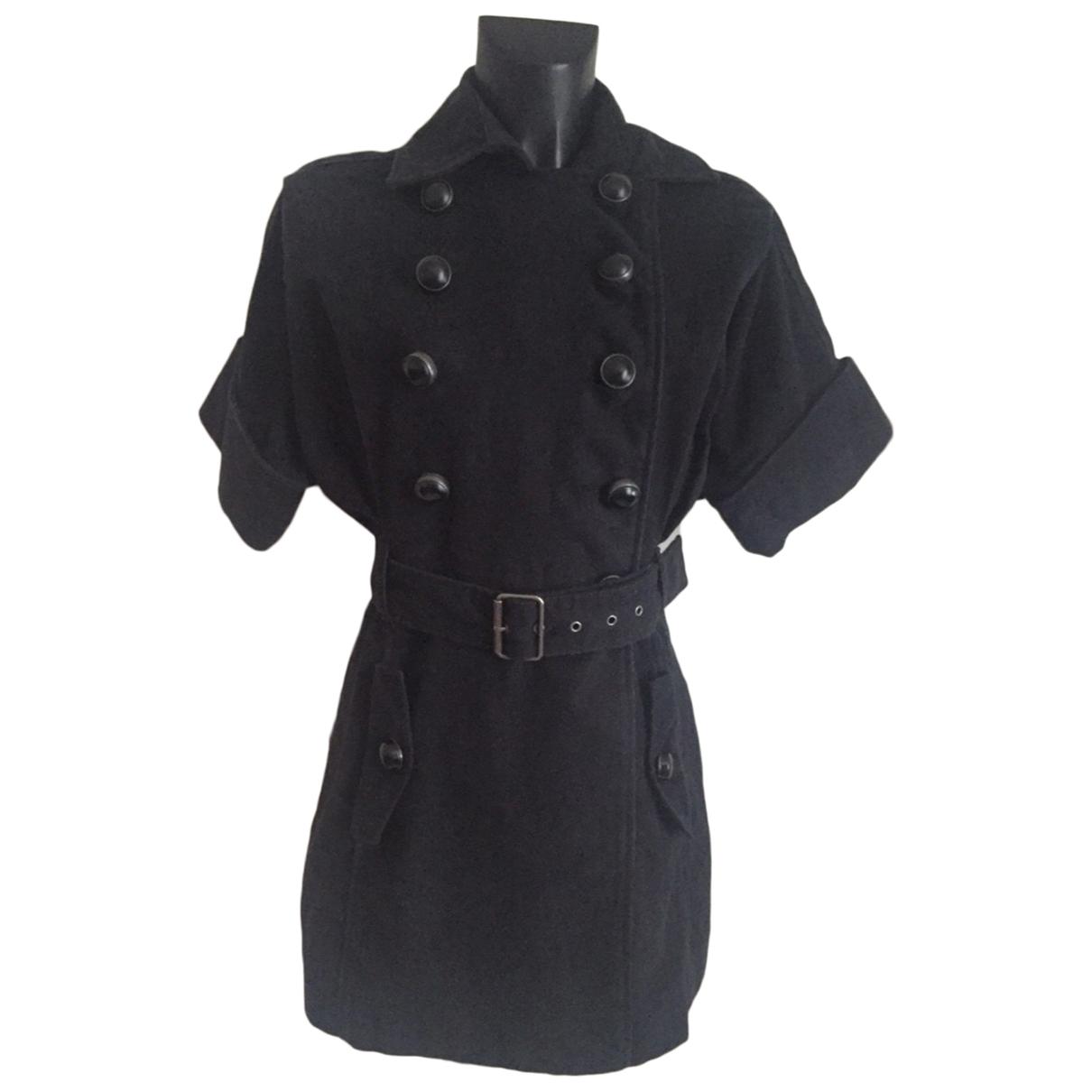 Mango - Manteau   pour femme en coton - noir