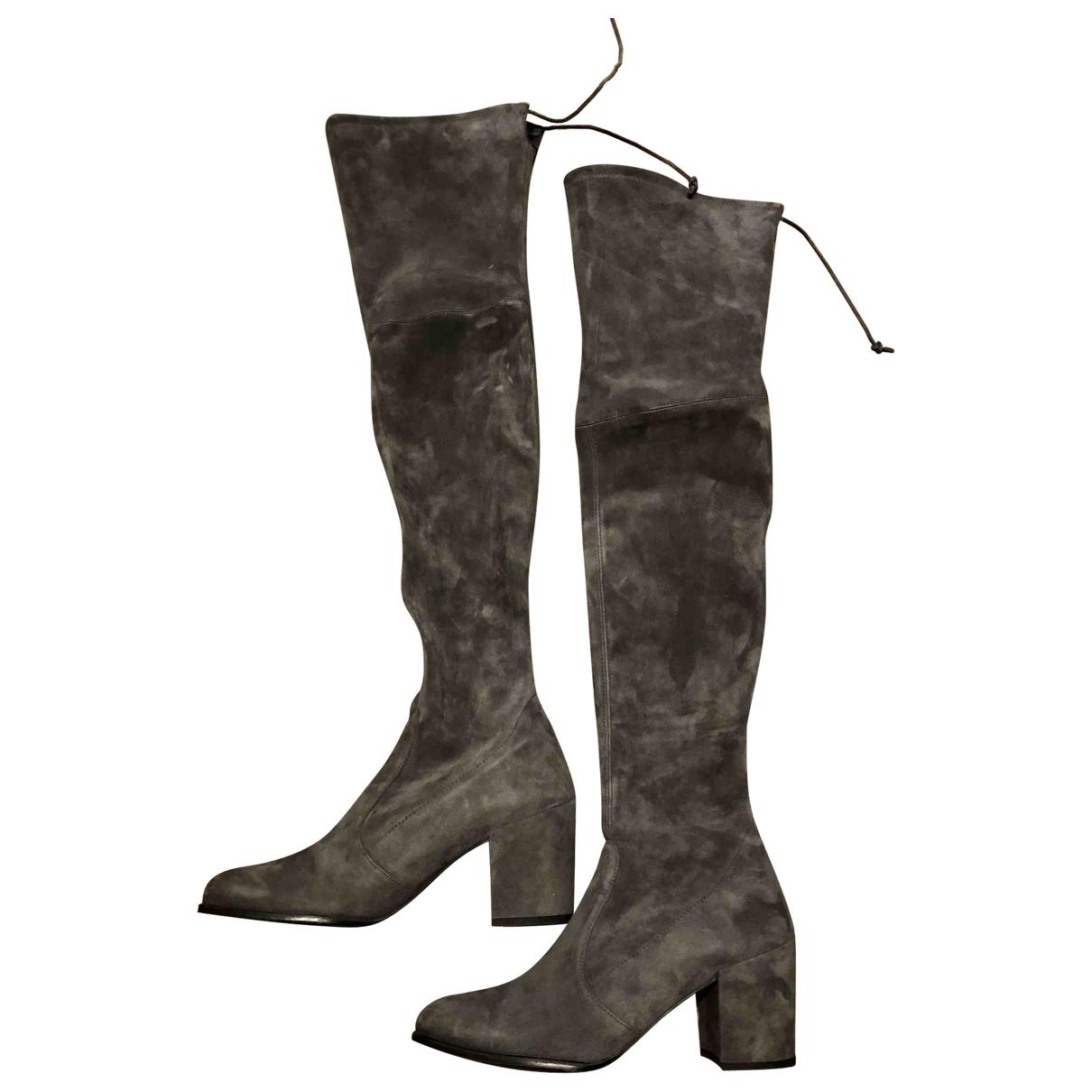 Stuart Weitzman \N Grey Suede Boots for Women 8.5 UK