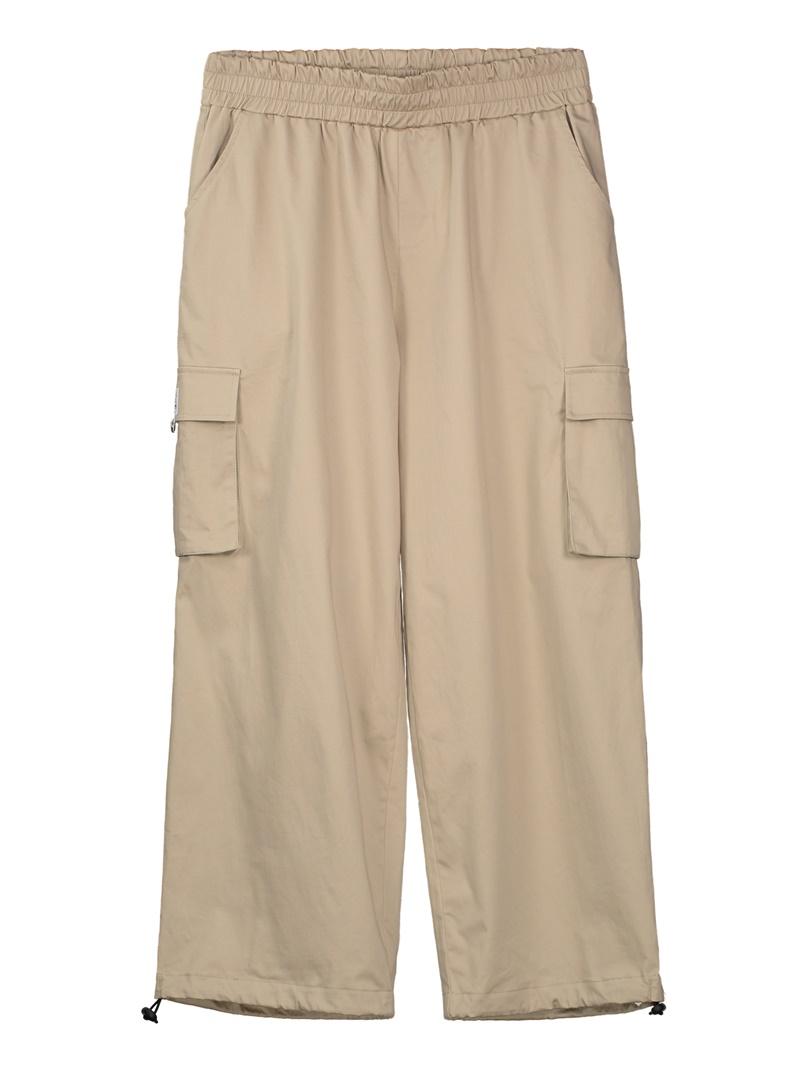 Pocket Patchwork Wide Legs Women's Pants