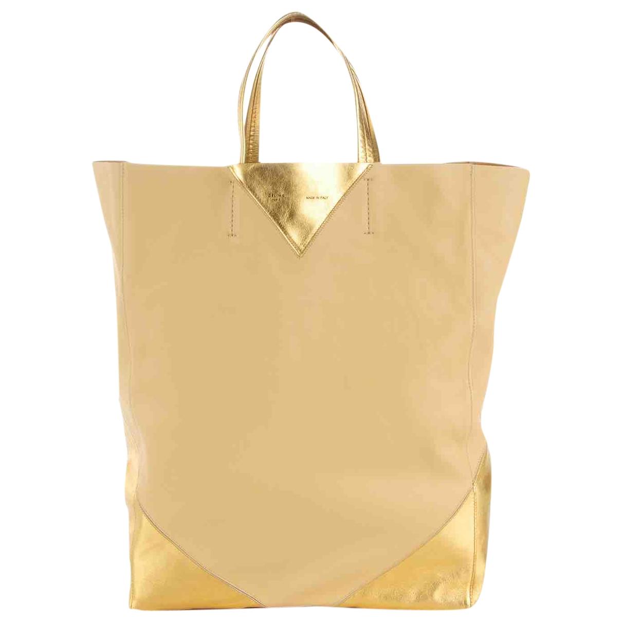 Celine Cabas Handtasche in  Gold Leder