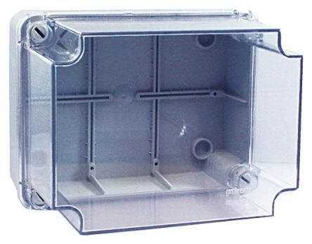 RS PRO Grey ABS Enclosure, IP55, 320 x 240 x 180mm