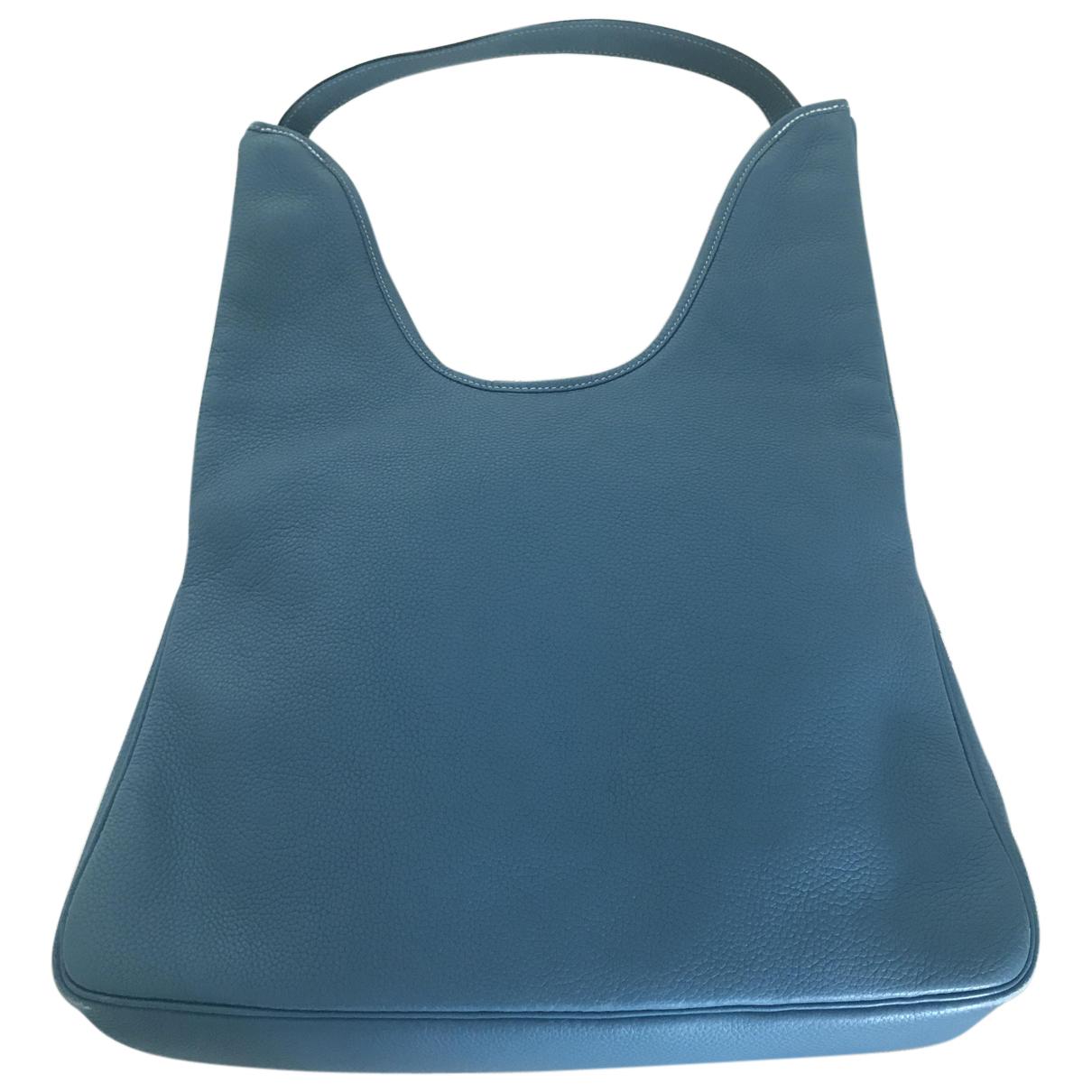 Hermes - Sac a main Massai pour femme en cuir - bleu