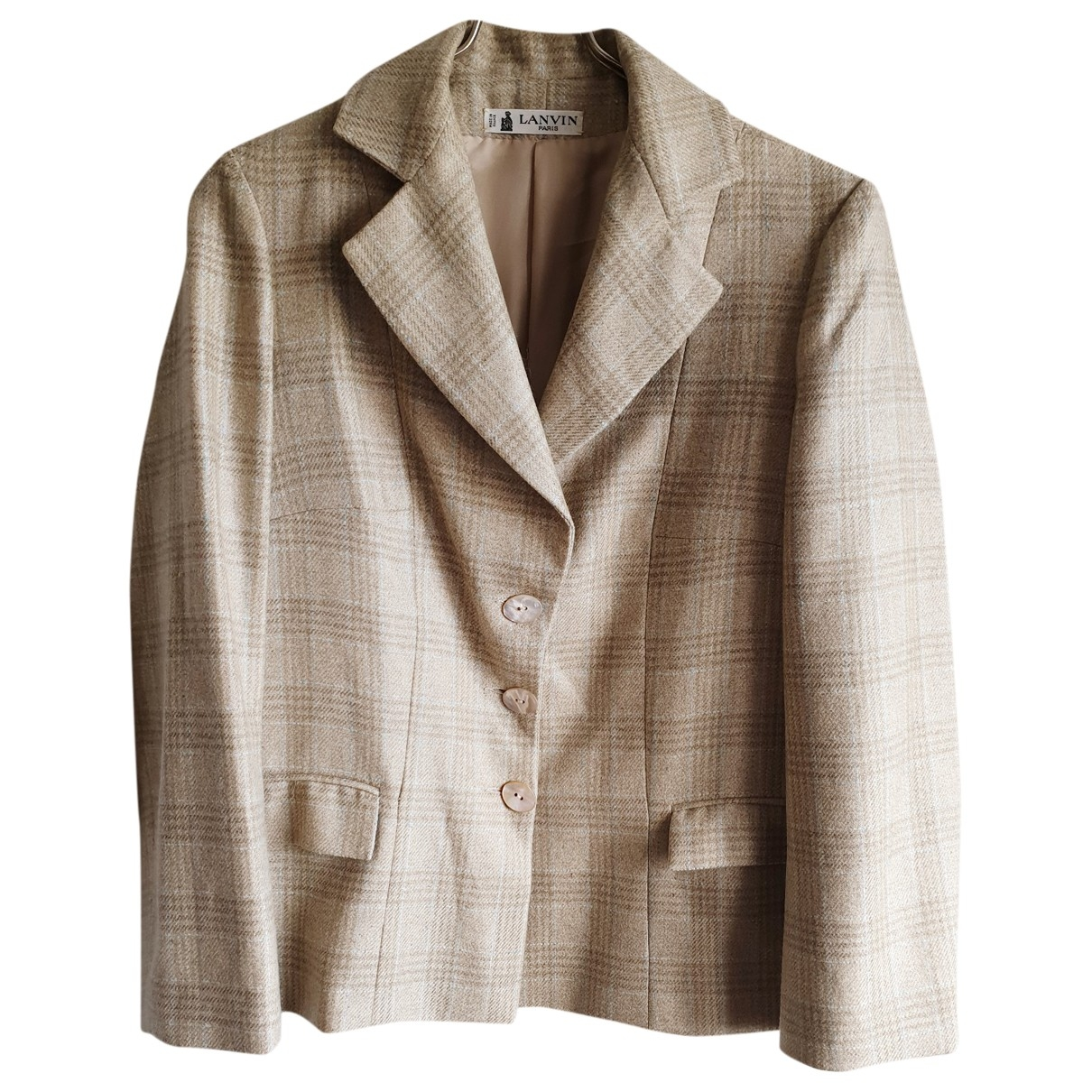 Lanvin \N Beige Wool jacket for Women 42 FR