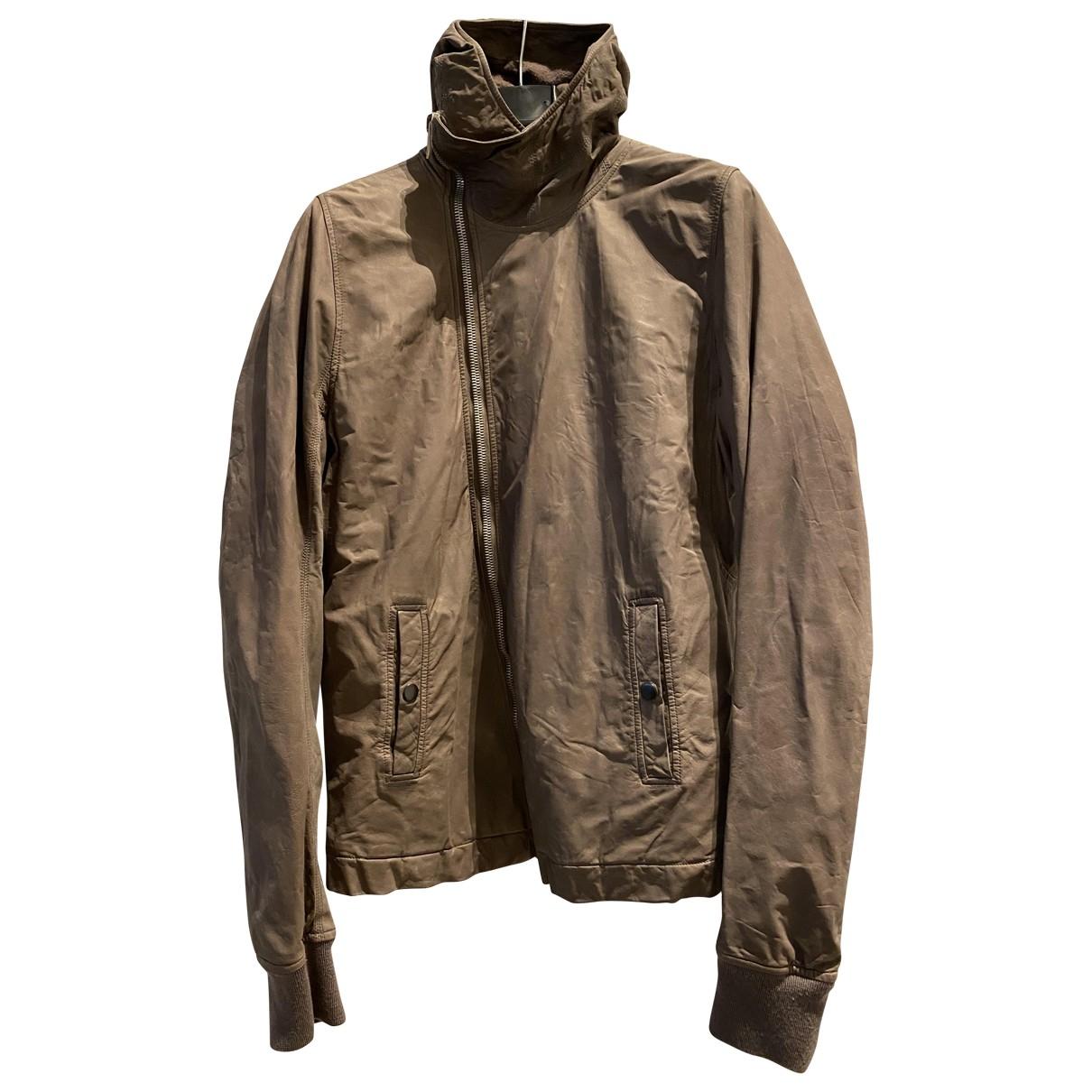Rick Owens \N Brown Leather jacket  for Men M International