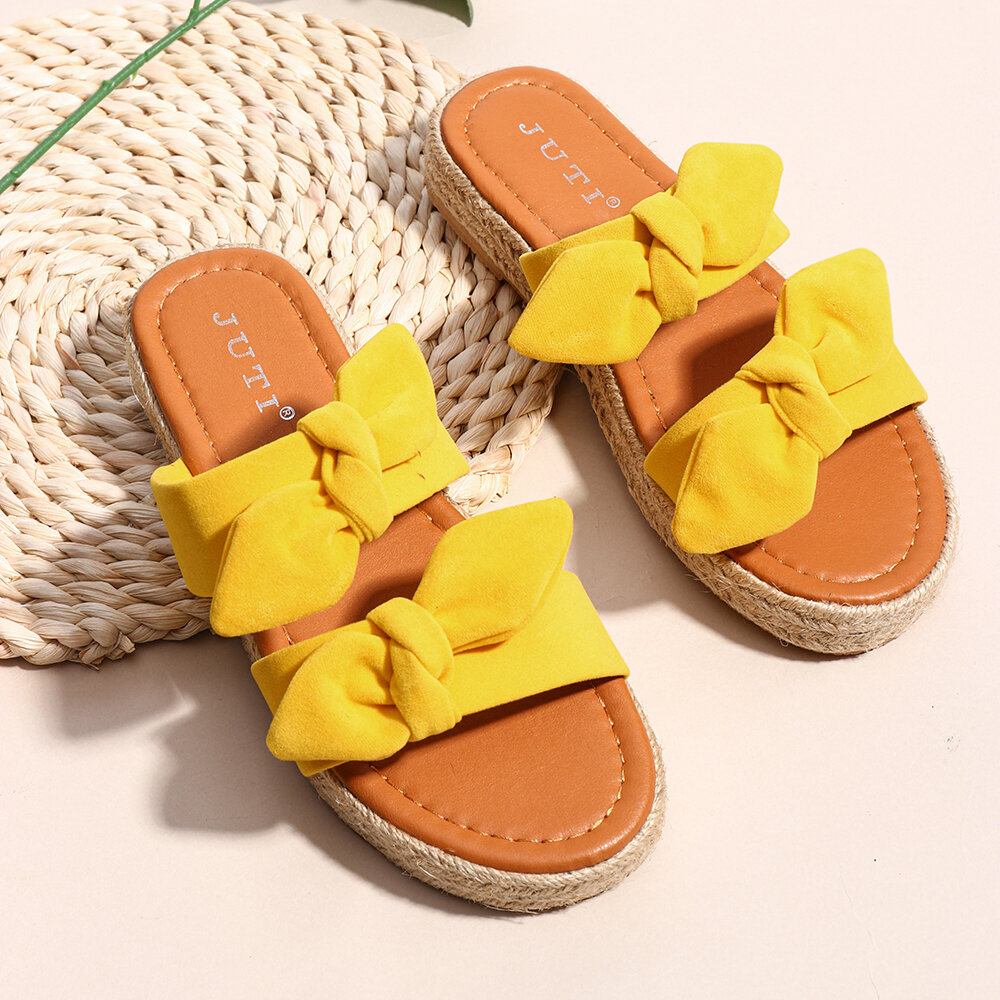 Large Sizes Women Linen Sole Sandals