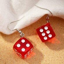 Dice Charm Drop Earrings