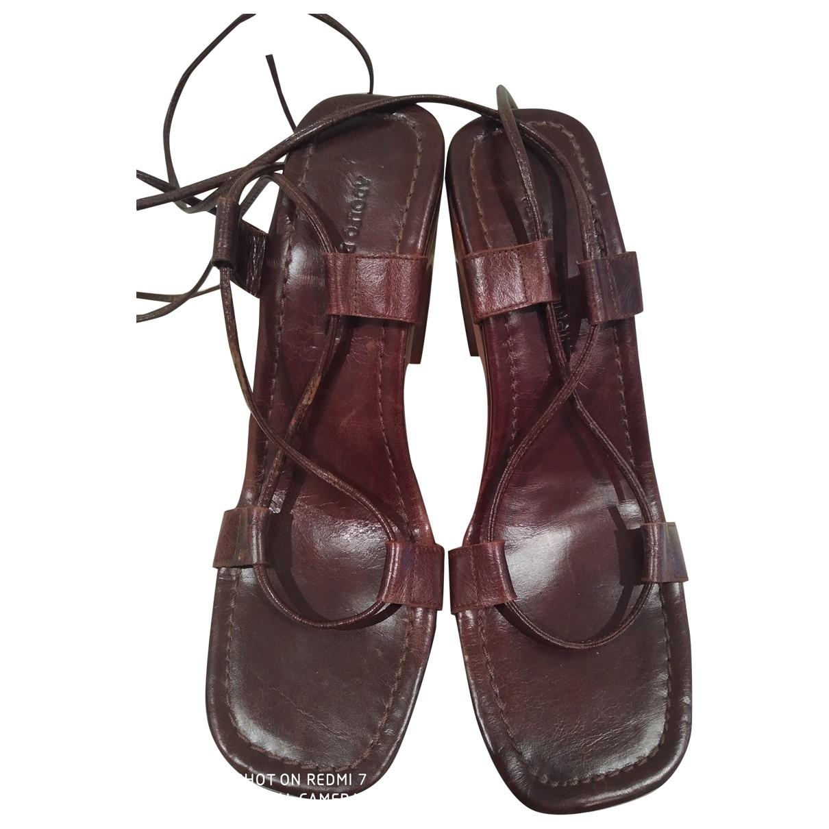Adolfo Dominguez \N Brown Leather Sandals for Women 38 EU