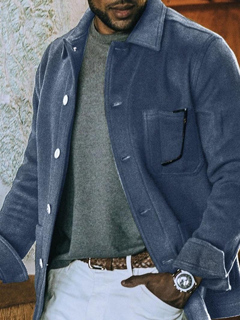 Ericdress Plain Lapel Pocket Spring Korean Jacket