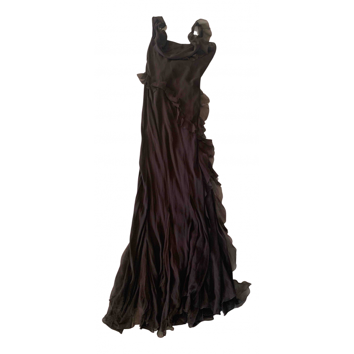 Dior \N Kleid in  Braun Seide
