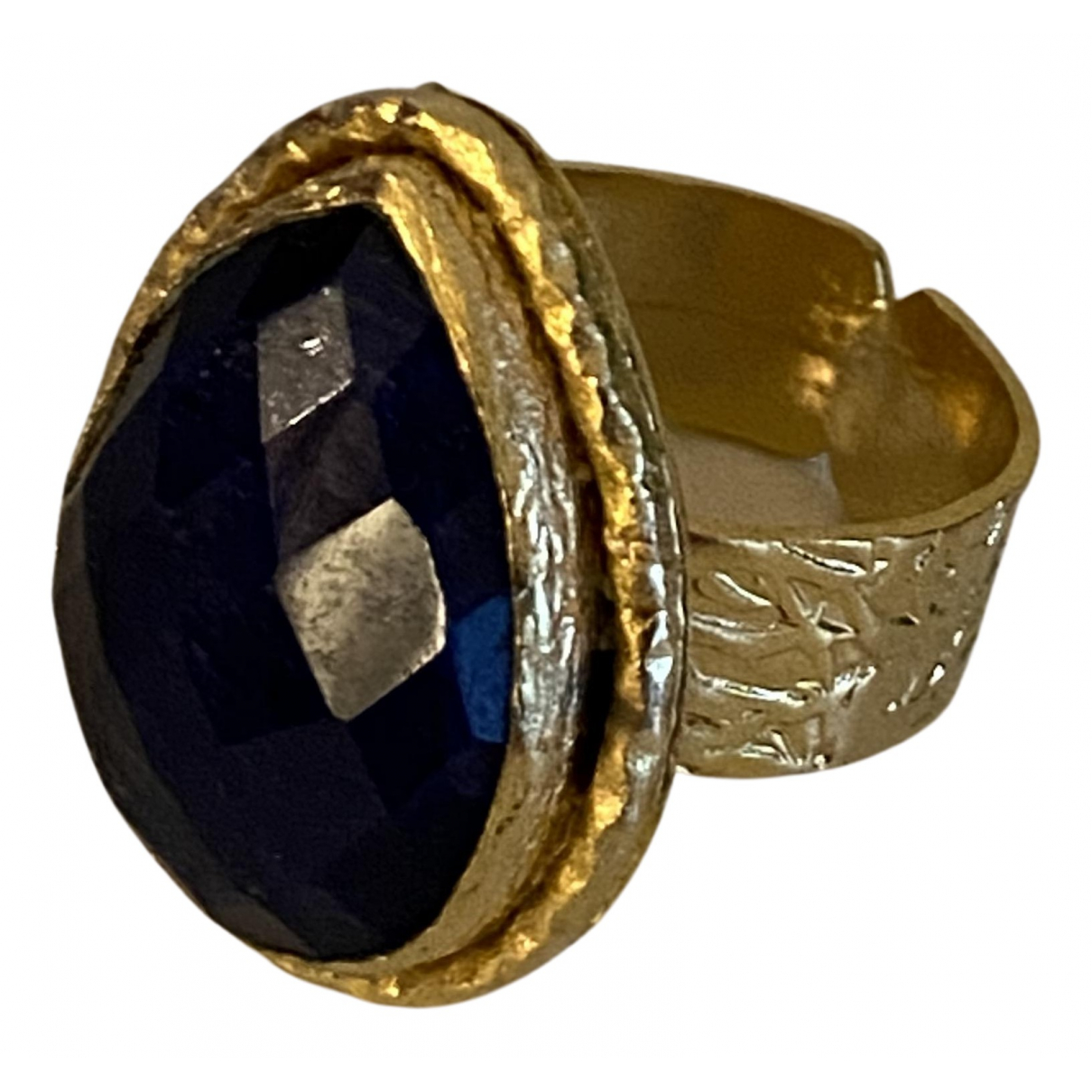 Non Signé / Unsigned N Gold Metal ring for Women 54 EU