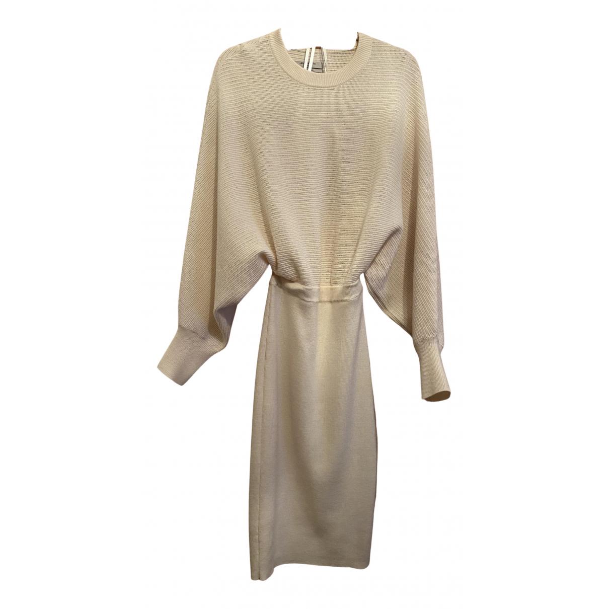 All Saints - Robe   pour femme en laine - ecru
