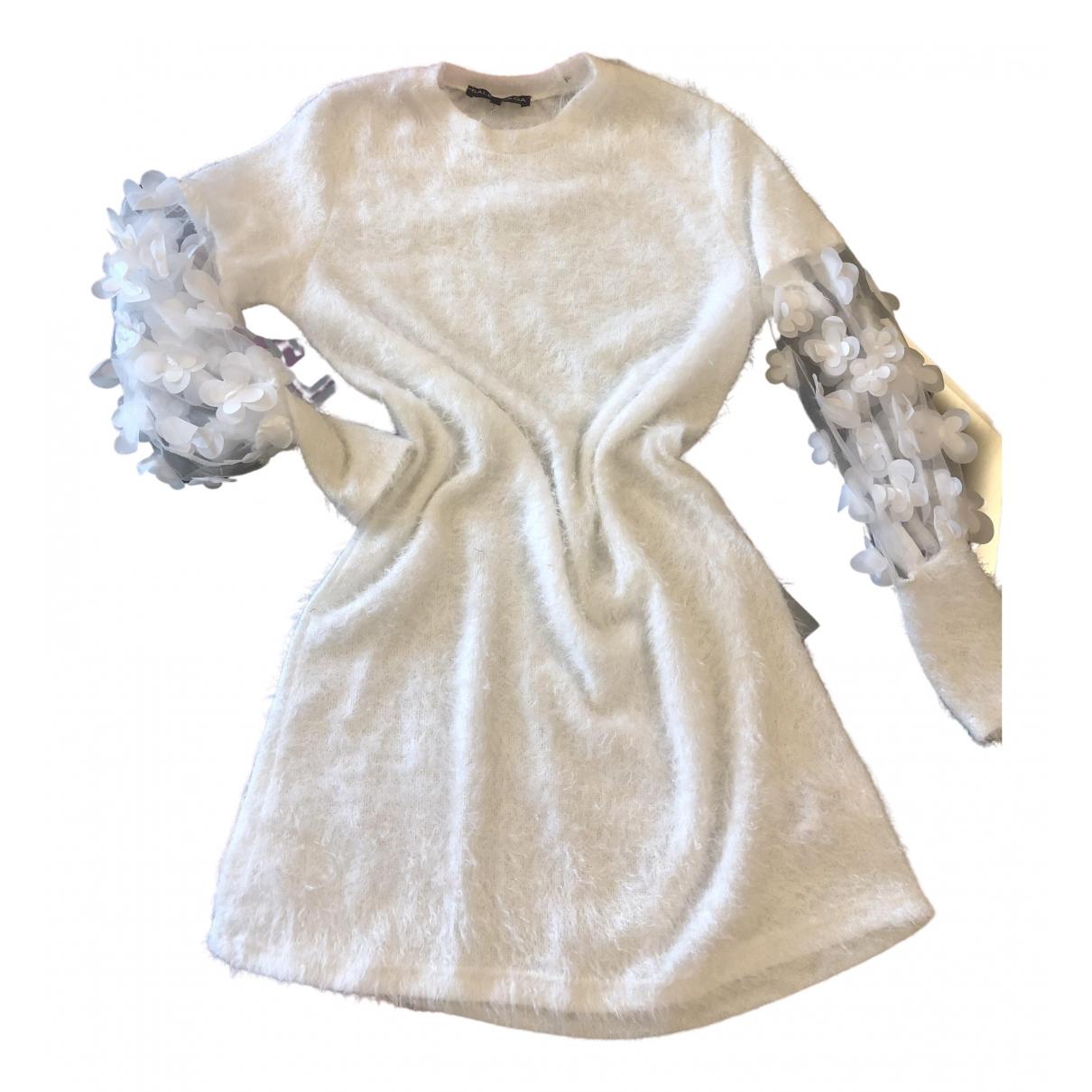 - Robe Crochet pour femme en coton - blanc